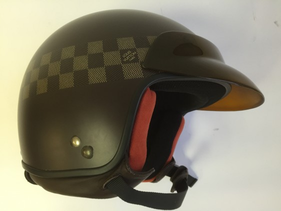 louis vuitton damier ebene motorcycle scooter casque helmet great vintage guitar instruments. Black Bedroom Furniture Sets. Home Design Ideas