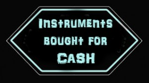 Instruments bought for cash