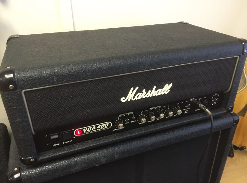 marshall bass rig vba400 valve bass amp head and vbc 4x12 cabinet great vintage guitar. Black Bedroom Furniture Sets. Home Design Ideas