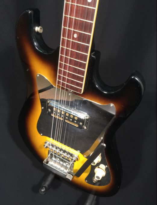 vintage 60 s audition electric guitar single gold foil pickup made in japan great vintage. Black Bedroom Furniture Sets. Home Design Ideas