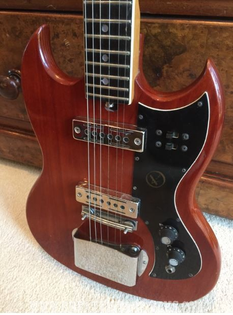 Electric vintage guitar kay The Story
