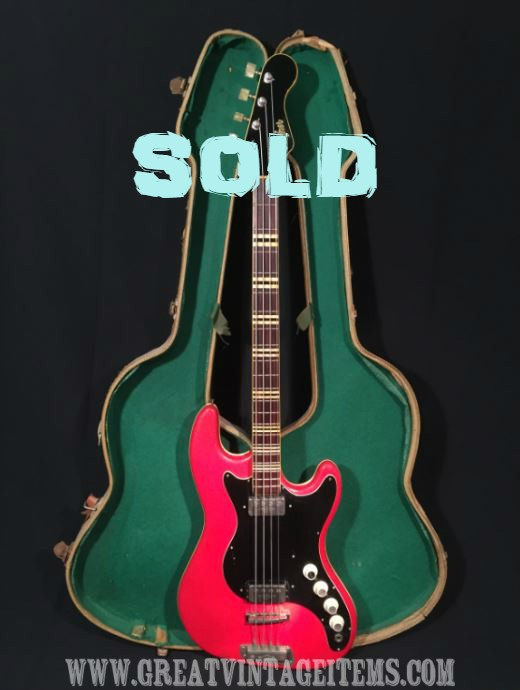 1962 Vintage Hofner 185 Bass Guitar Very Early Model With